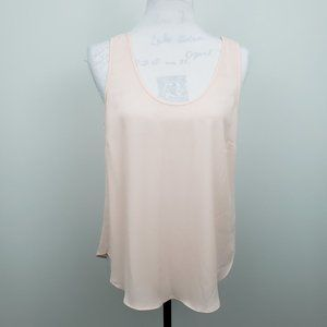 J Crew Pink Draped Sheer Tank Top Womens Medium